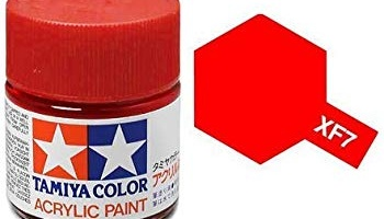 XF-7  Flat Red Acrylic Paint Mini XF7 - Tamiya