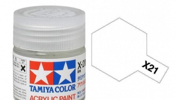 X-21  Flat Base Acrylic Paint Mini X21 - Tamiya