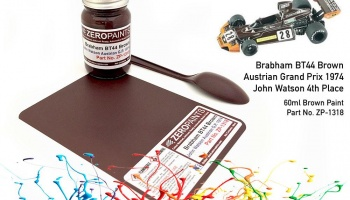 Brabham BT44 Brown Paint 60ml (John Watson Austrian G.P. 1974) - Zero Paints