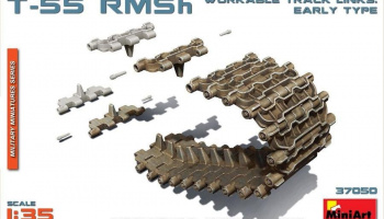 1/35 T-55 RMSh Workable Track Links. Early Type
