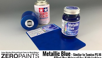 Metallic Blue Paint (Similar to PS-16) 60ml - Zero Paints