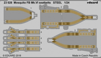 1/24 Mosquito FB Mk.VI seatbelts STEEL