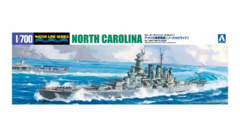 USS North Carolina BB-55 (1944) U.S. Navy Battleship  1/700 - Aoshima