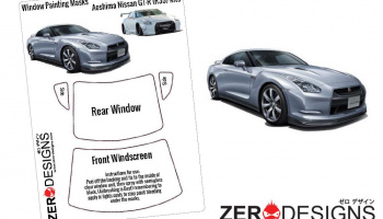 Nissan GT-R (R35) Window Painting Masks (Aoshima) - Zero Paints