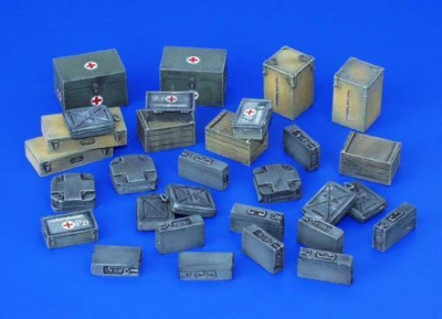 1/35 Ammunition and Medical Aid Containers, Germany - WWII