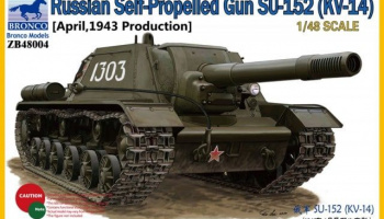 Russian Self-Propelled Gun SU-152 (KV-14) [April, 1943 Production] 1:48 - Bronco Models