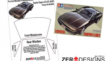 Toyota Supra 3.0 GT (A70) Pre Cut Window Painting Masks (Tamiya) - Zero Paints