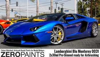 Lamborghini Blu Monterey Paint Set 2x30ml - Zero Paints