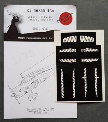 1/72 Ki-36 Ida Control Surfaces - Optical Illusion Mask for FUJ kit