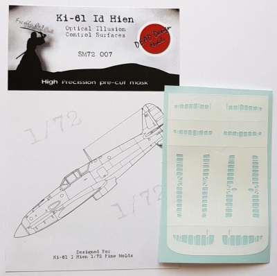 1/72 Ki-61 I Hien Control Surfaces - Optical Illusion Mask for FM kit