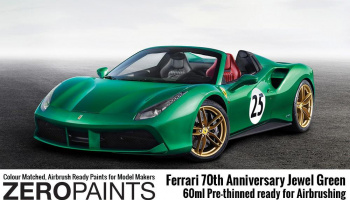 Jewel Green - Ferrari 70th Anniversary Paint 60ml - Zero Paints
