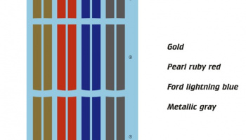 Ford GT Metallic Colours Striůpes For Tamiya 24346 1/24 - Blue Stuff
