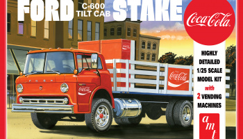 FORD C600 STAKE BED W/COCA-COLA MACHINES 1:25 SCALE MODEL KIT - AMT