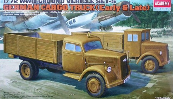GERMAN CARGO TRUCK E/L (1:72) Model Kit 13404 - Academy