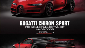 Bugatti Chiron Sport Full Resin Kit 1/18 - Alpha Model
