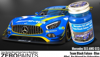 Mercedes AMG GT3 Team Black Falcon Blue - Zero Paints