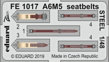 1/48 A6M5 seatbelts STEEL for TAMIYA kit