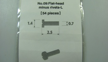 Metal Rivet No.9 Flat Head Minus Rivets-L - Model Factory Hiro