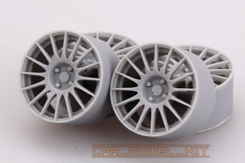 17 Rally Wheels For Fiat 500 Abarth Hobby Design Car Model Kit Com
