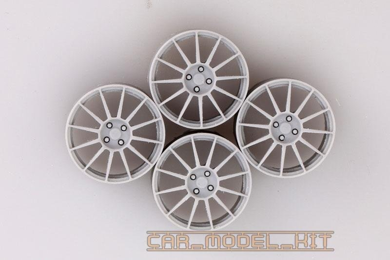 17 Sports Wheels For Fiat 500 Abarth Hobby Design Car Model Kit Com