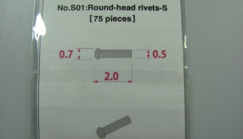 Metal Rivet No.S01 Round Head Rivets-S - Model Factory Hiro