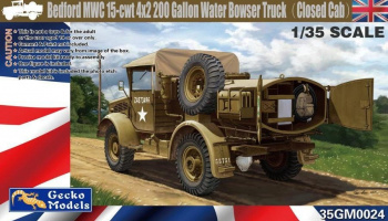 Bedford MWC 15-cwt 4x2 200 Gallon Water Bowser Truck (Closed Cab) 1/35 - Gecko Models