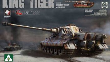 KING Tiger Pz.ABT.505 Sd.Kfz.182 HENSCHEL TURRET w/ZIMMERIT /full interior w/New Track Parts 1/35 - Takom