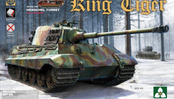 King Tiger Sd.Kfz.182 HENSCHEL TURRET / Full Interior w/new track 1/35 - Takom