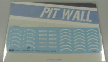 Pirelli F1 Markings White - PIT WALL