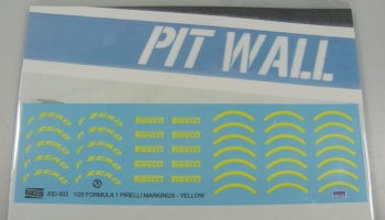Pirelli F1 Markings Yellow - PIT WALL