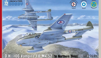 1/72 DH 100 Vampire FB Mk.52 Over Northern Sky - R