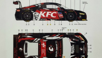 "Audi R8 LMS ""KFC"" 2019 R8 LMS Cup 1/24 - LB Production"