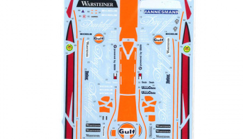 "McLaren F1-GTR ""Gulf"" #1/#2/#3 FIA-GT 1997 (Long Tail) for FUJIMI 125794 1/24  - Tabu Design"