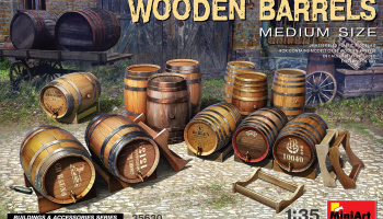 1/35 Wooden Barrels. Medium Size - Miniart