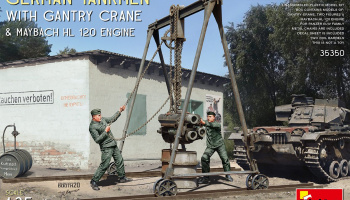 1/35 German Tankmen with Gantry Crane & Maybach HL 120 Engine - Miniart