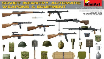 1/35 Soviet Infantry Automatic Weapons & Equipment.Special Edition (PE Parts)