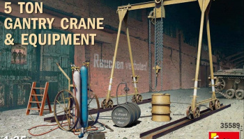 1/35 5 Ton Gantry Crane & Equipment
