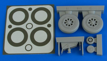 1/32 A1H Skyraider wheels & paint masks for TRUMPETER kit