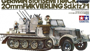 German 8ton Semitrack 20mm Flakvierling Sd.Kfz. 7/1  1/35 - Tamiya