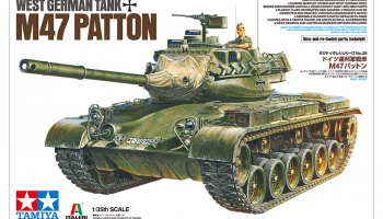 M47 Patton West German tank - Tamiya