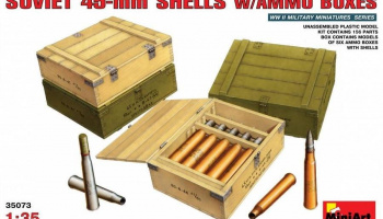 1/35 Soviet 45-mm Shells w/ Ammo Boxes
