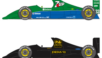 Jordan Ford J191 Jordan Grand Prix Team sponsored by 7UP Fujifilm #32, 33 1:20 - Shunko Models