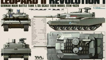 German Main Battle Tank Leopard II Revolution I 1/35 - Tiger Model