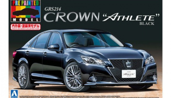 GRS214 CROWN ATHLETE G '12 (GRS214 CROWN ATHLETE G '12 (Black)) (TOYOTA) PRE-PAINTED MODEL 1/24 - Aoshima