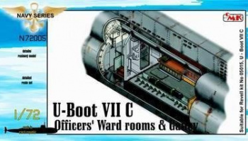 1/72 U-Boot VII Officers Ward rooms & Galley for