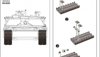 "M1A1/M1A2 T-158 ""Big Foot"" Workable Track Link 1/35 - RFM"