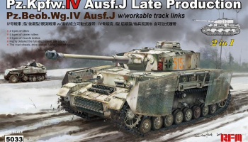 Panzer IV Ausf.J Late Production or Pz.Beob.Wg.IV Ausf.J 2 in 1 1:35- Rye Field Model