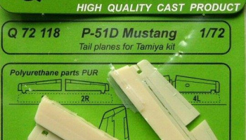 1/72 P-51D Mustang Tail planes for TAM