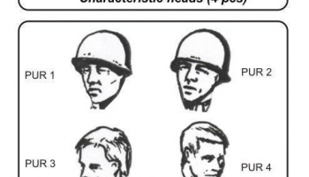1/35 US WWII soldiers - character.heads 4 pcs