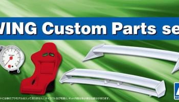 Wing & Custom Parts set 1:24 - Aoshima